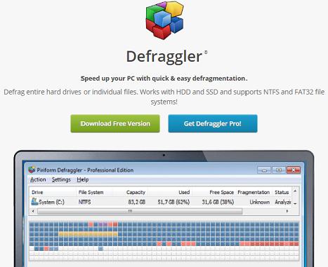 CCleaner Defraggler