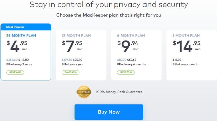 MacKeeper Pricing Plan