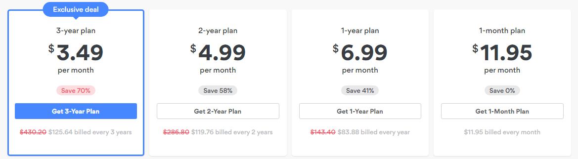 NordVPN Pricing Plans